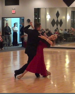 John B and Tracy at Ballare Ballroom Showcase
