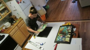 My sister used to own her won framing business. She was a great help.