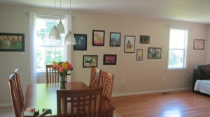 Family Room/Dining Room converted to Gallery space