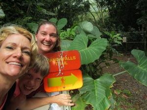 Two single girls - Manoa Falls, Oahu, Hawaii