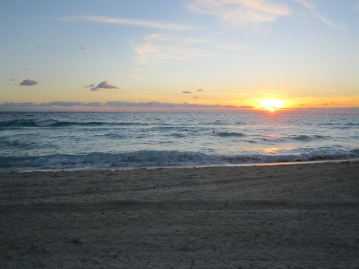 Sunrise on my last day in Cancun. Thank you.